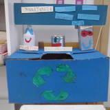 κάδος ανακύκλωσης από χαρτόκουτο